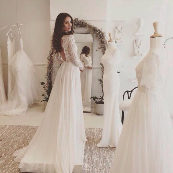Aliexpress.com : Buy fashion romantic boho Wedding Dress 2016 backless lace long sleeves white beach wedding gown bridal gown for wedding party from Reliable gown pink suppliers on Best shoes clothing bags stores