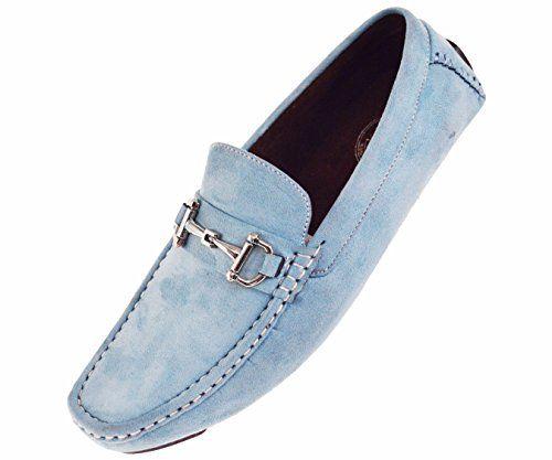 Amali Men's Turquoise Microfiber Loafers