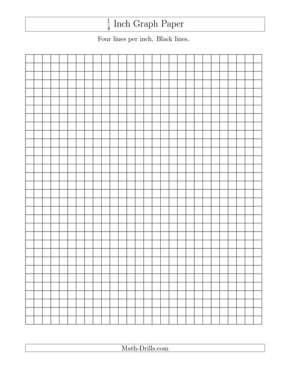 The  Inch Graph Paper With Black Lines A Math Worksheet From