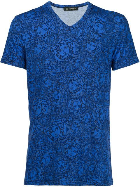 VERSACE 'Olympus' V-Neck T-Shirt. #versace #cloth #t-shirt