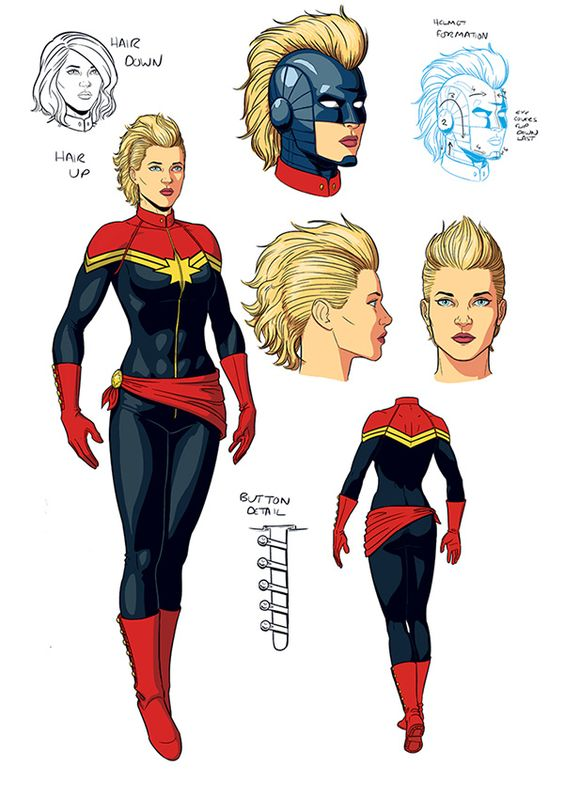 Jaimie Mckelvie's original Captain Marvel design!