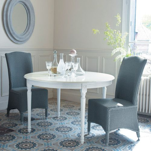 Tavolo rotondo allungabile bianco per sala da pranzo in legno D 120 cm