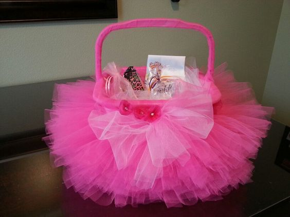 how to make a tulle skirt for a basket