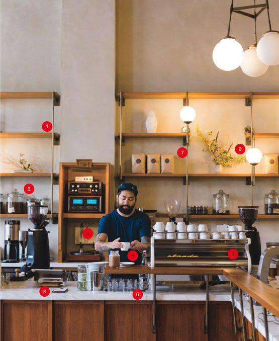 Coffee shop einrichtung kaffee and trends on pinterest for Modern coffee bar design
