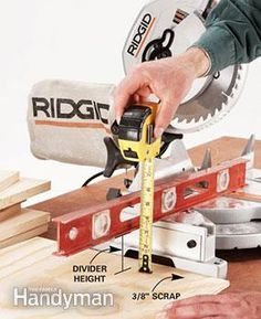 Miter saw stands are an essential, but expensive accessory for carpenters.  Instead of buying one, save money and get a more versatile work table by building your own. Use these photos and free plan as a guide.
