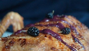 Goose sauced with Mulberries