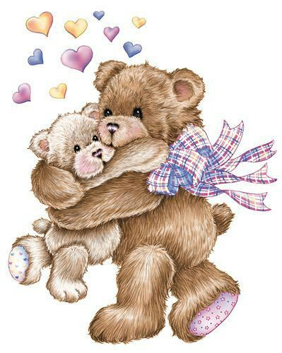 Bear love | ღ Clipart ~ Bears ღ | Pinterest | Happy, Bear hugs ...