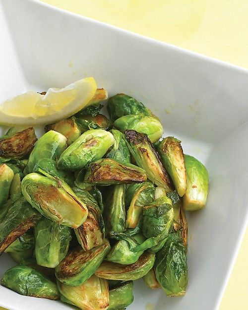 Caramelized Brussels Sprouts with Lemon - the citrus adds a bright note to the roasted veg