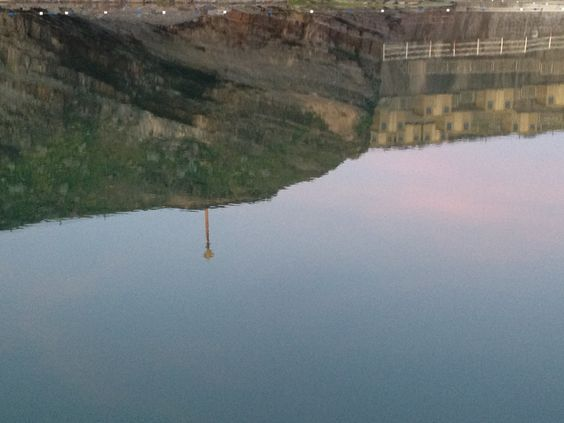 reflection in Bude Sea Pool