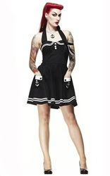 Hell Bunny Motley Sailor Mini Dress