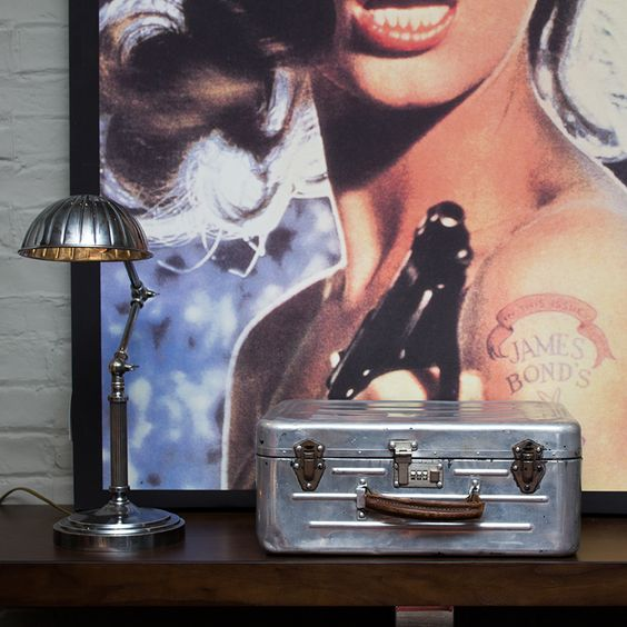Shell Lamps, Vintage Case & Playboy Canvas