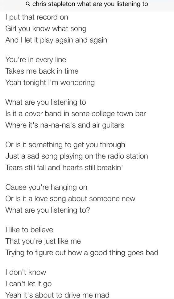 Lyric lyrics to tennessee whiskey : Without your love • Chris Stapleton | Meaningful Lyrics ...