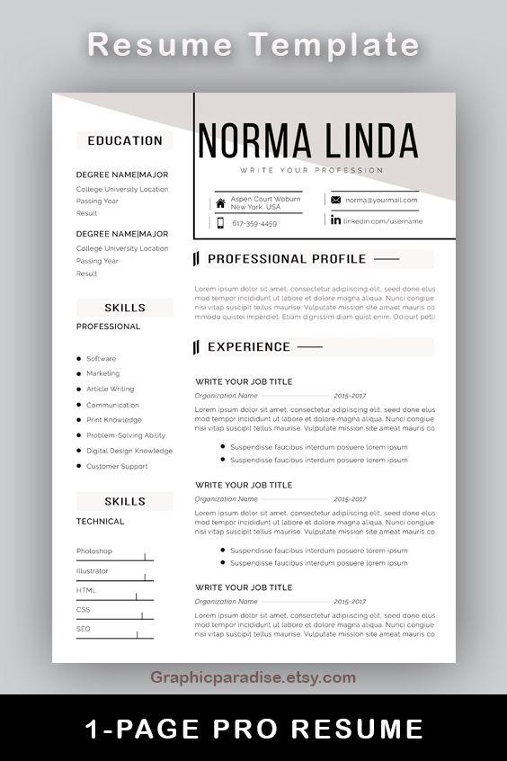 Professional Resume L Cv Template I Instant Download Ms Word Etsy Resume Template Cv Template Resume Template Professional