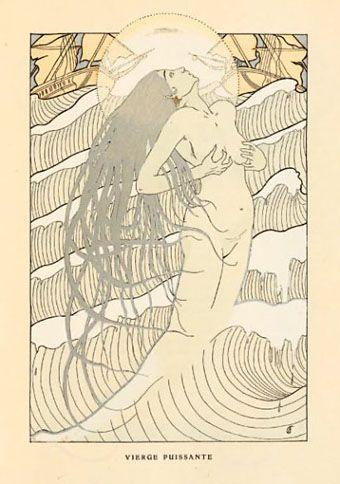 Henri Caruchet, illustrator. From Les Litanies de la Mer by Jean Richepin, 1903.