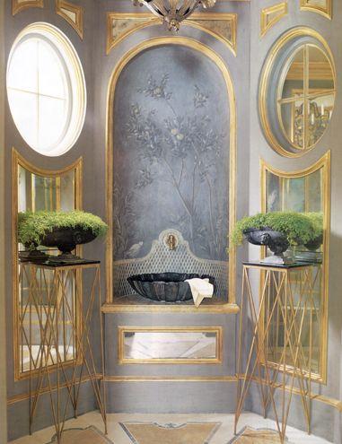 Powder Room.  Classicism by Hallberg Wiseley.