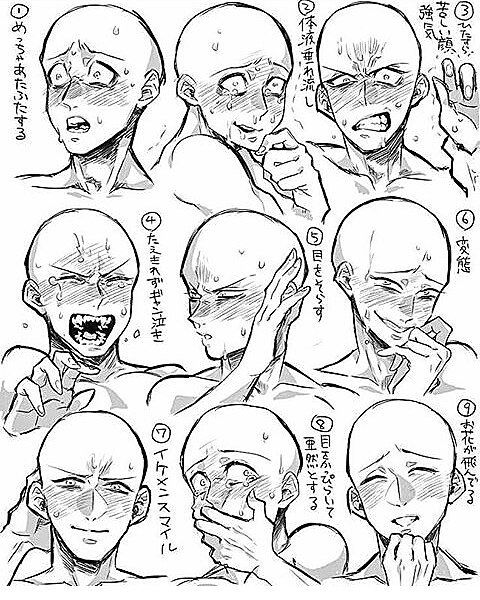 Anime Art Reference Tutorials On Instagram Credits To Pixiv Id 58701315 Check Out My Drawi Drawing Face Expressions Art Reference Art Reference Photos