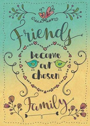 Framed Chosen Family Print
