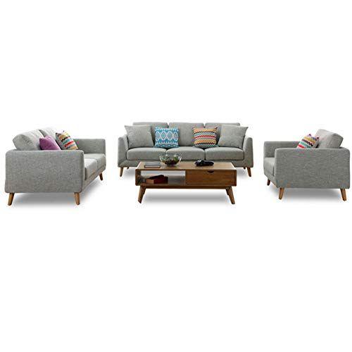 Kemanduo Modern Sofa Small Space Configurable Sofa Breathable Soft Comfortable 3 Pcs Singlesofa With Images Sofas For Small Spaces Small Sofa Modern Sofa