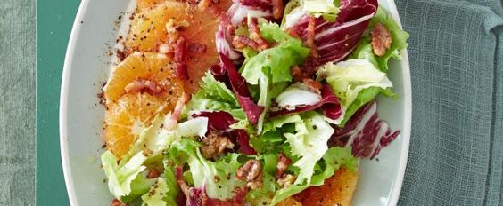 Rezept: Blutorangen-Mandarinen-Salat mit Endivie