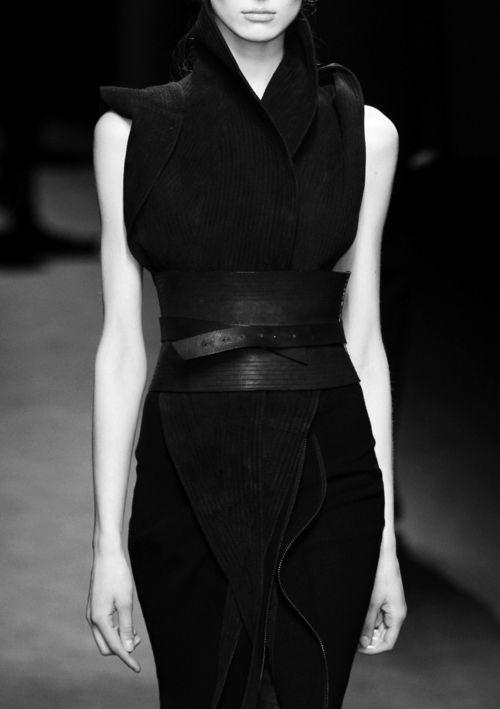 Olga Sherer, *fashion design, women apperel, black, catwalk*