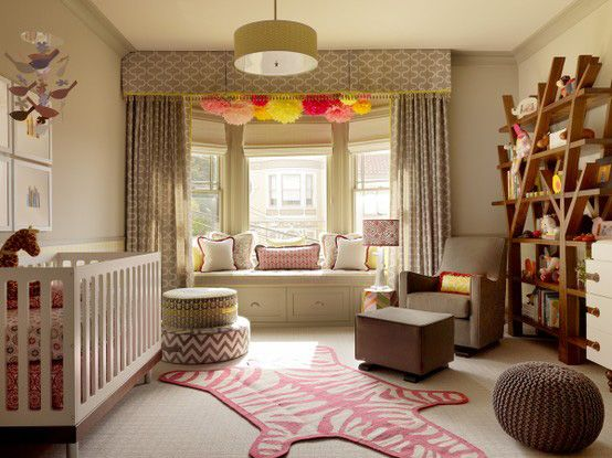 Girl bedroom - love the pom poms