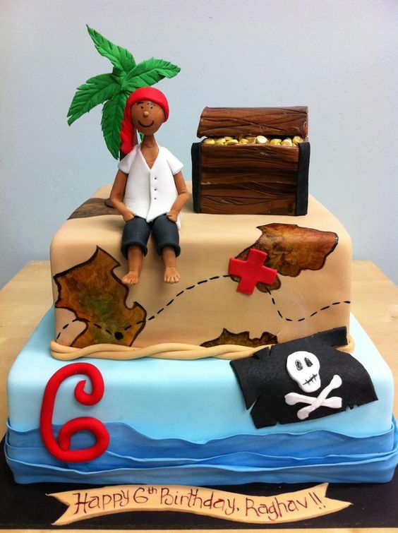 Pirates cakes and pirate cakes on pinterest - Gateau anniversaire garcon ...