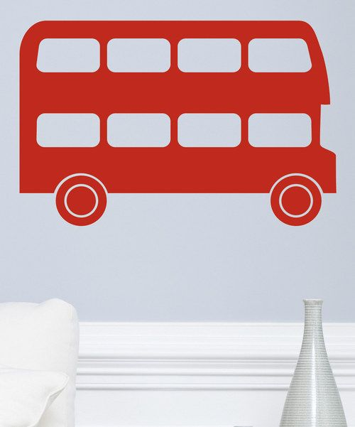 Take a look at the Small Double Decker Bus Decal on #zulily today!