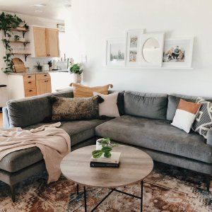 Andes 3 Piece L Shaped Sectional In 2021 Dark Grey Couch Living Room Grey Sofa Living Room Grey Couch Living Room