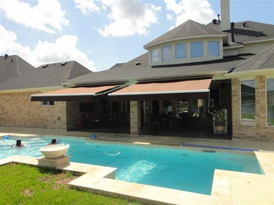 Retractable Awnings Over Pool Retractable Awnings