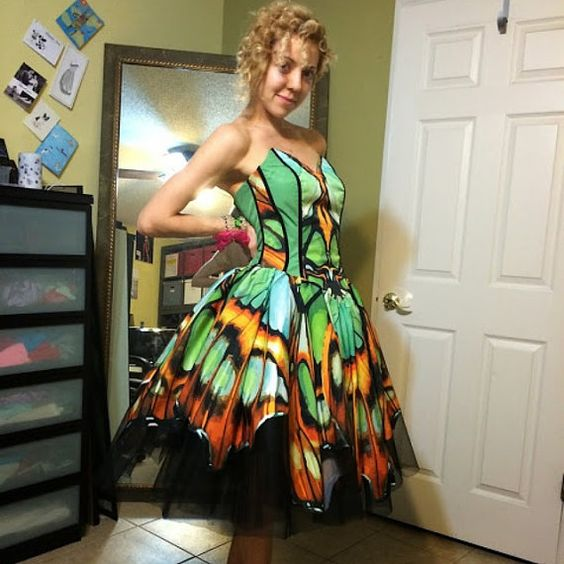 Evening / Prom / Party Butterfly Dress by PrestigeCouture on Etsy