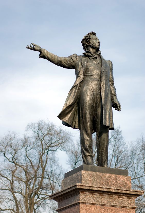 ST. PETERSBURG, RUSSIA l Aleksandr Pushkin, one of the greatest Russian literary figures, is commemorated in a sculpture in St. Petersburg.