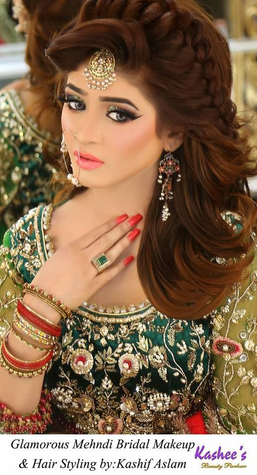 Kashee S Bridal Makeup Hairstyle 2018 2 Bridal Makeup Bridal Hair And Makeup Bridal Eye Makeup