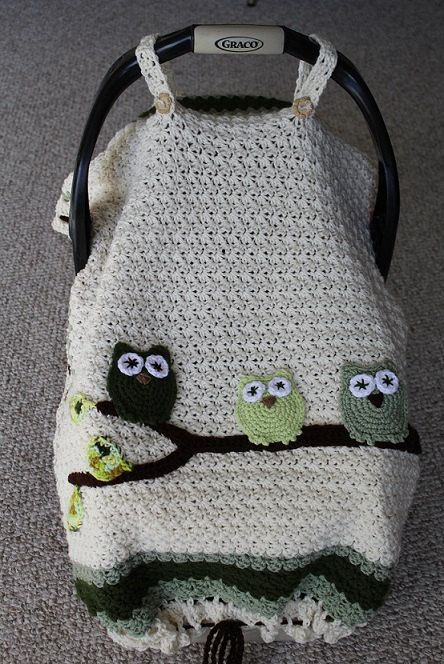 Baby Blanket, Infant Tented Car Seat Cover, Stroller /Car Blanket, Owls by CelebratetheWonder on Etsy https://www.etsy.com/listing/220688079/baby-blanket-infant-tented-car-seat