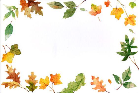 clipart automne - cadre - frame - arrosoir feuilles
