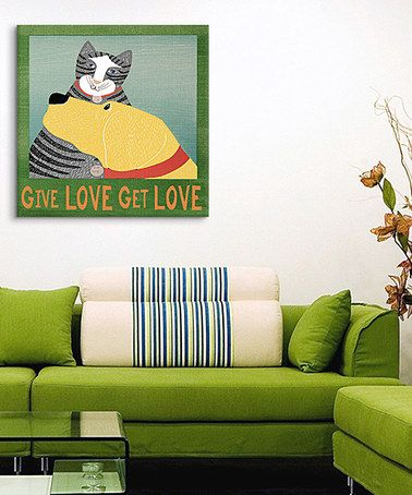 Loving this 'Give Love Get Love' Gallery-Wrapped Canvas byStephen Huneck on #zulily, $50-$130 !! #zulilyfinds