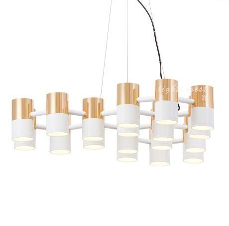 Modern new classical droplight【最灯饰】12月新品现代新古典IKE铝材多管创意设计师样板房吊灯