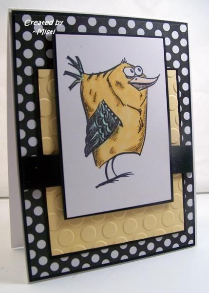 CAS315 Crazy Bird by Scraperwannabe - Cards and Paper Crafts at Splitcoaststampers