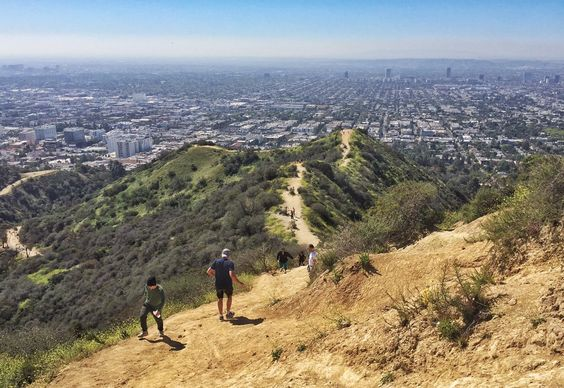Climbing up Runyon Canyon in Los Angeles. Last day it's open until August because it'll be closed for maintenance.