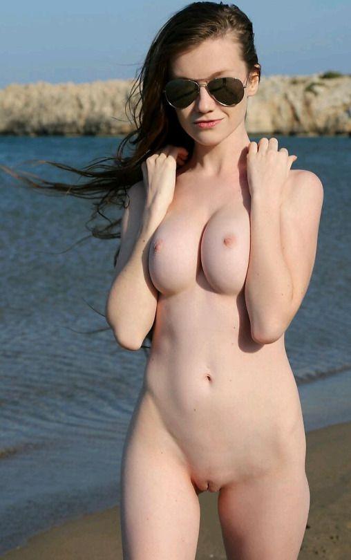 Public beach naked body