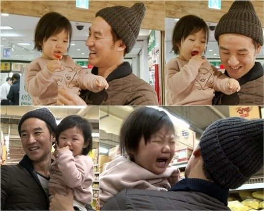 """In the upcoming January 18 broadcast of KBS 2TV variety show """"Superman Returns,"""" Uhm Tae Woong, the newest dad on the show, takeshis daughter Uhm Ji Onto shop for groceries. Despitehis worries, Um Ji On is notfussy at all andthoroughly enjoysherself, helping herself to samples at the market. ..."""