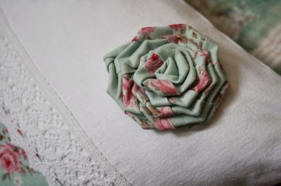 and a fabric rose