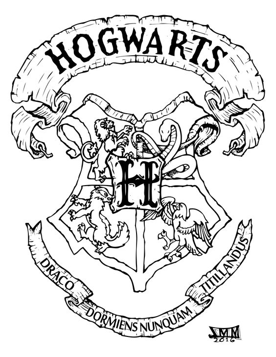 gryffindor crest coloring pages - photo#9