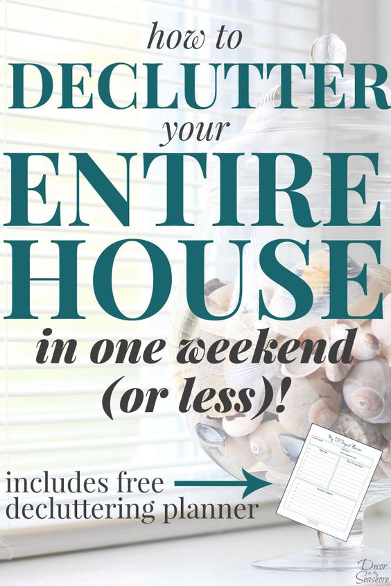 Declutter home and it is on pinterest for Declutter house plan