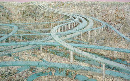 Matthew Cusick, Many Rivers, 2009
