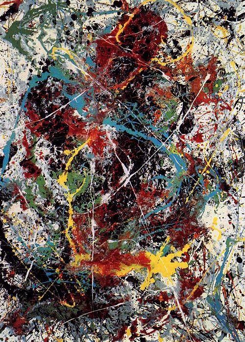 Action Painting : c'est l'action de réaliser la peinture et non l'objet peinture qui est essentiel. Jackson Pollock - One: Number 31, 1950.
