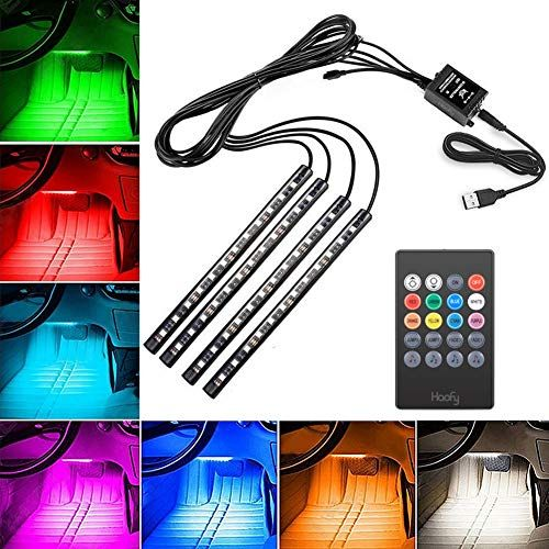 Controlled Lamp Car Interior Lighting Atmosphere Light Multi Color USB LED