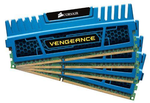 Corsair Vengeance Blue 16 GB DDR3 SDRAM Dual Channel Memory Kit CMZ16GX3M4A1600C9B $119.99