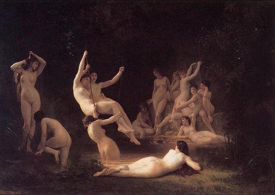 "William-Adolphe Bouguereau (1825-1905) ""THE NYMPHAEUM"" (1878)"