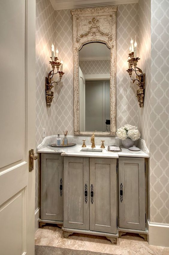 Pretty small bath powder room paint finishes by segreto finishes design by http photo Best paint finish for bathroom