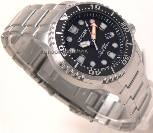Citizen Eco Drive Promaster Stainless Steel Band Scuba